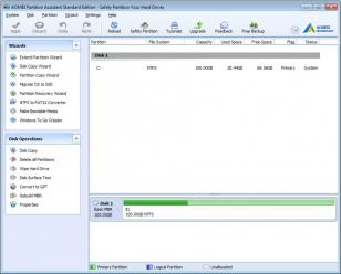 AOMEI Partition Assistant Standard Edition main screen