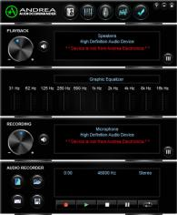 Audio Commander main screen