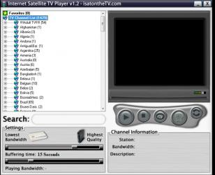 Internet Satellite TV Player main screen