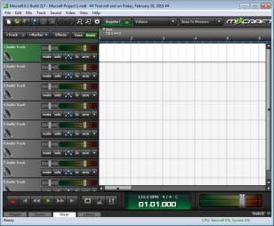 Mixcraft 6 main screen