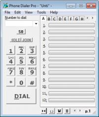 Phone Dialer Pro main screen