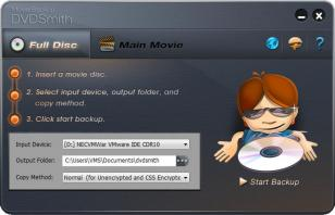 DVDSmith Movie Backup main screen