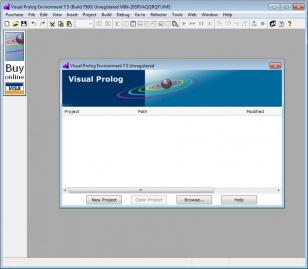 Visual Prolog main screen