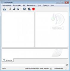 TeamSpeak 3 Client main screen