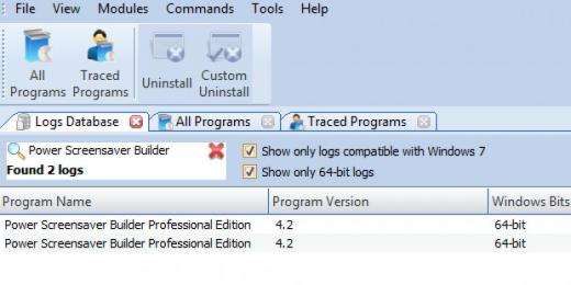 Find Power Screensaver Builder Professional Edition in Logs Database List