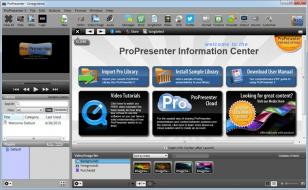 ProPresenter main screen