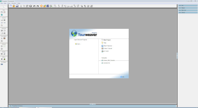 Tourweaver 7.95 Professional Edition main screen