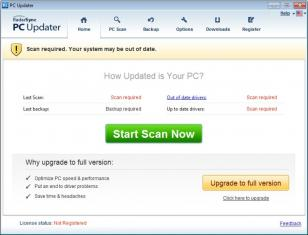 RadarSync PC Updater 2013 main screen