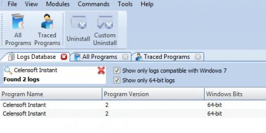 Find Find  in Logs Database List in Logs Database List