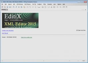 EditiX XML Editor 2015 main screen