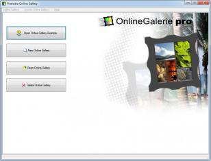OnlineGalerie main screen
