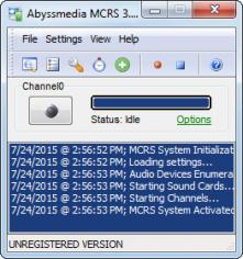 Abyssmedia MCRS System main screen
