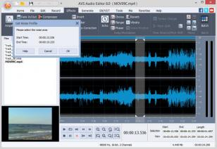 AVS Audio Editor main screen