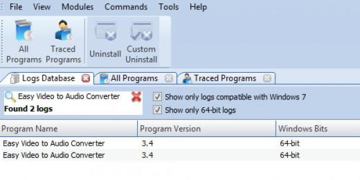Find Easy Video to Audio Converter in Logs Database List