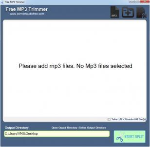 Free MP3 Trimmer main screen