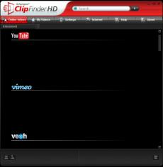Ashampoo ClipFinder HD main screen