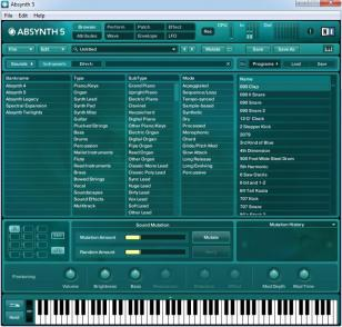Absynth main screen