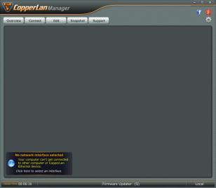 CopperLan Manager main screen