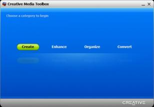 Creative Media Toolbox main screen