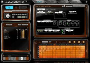 Jamstix main screen