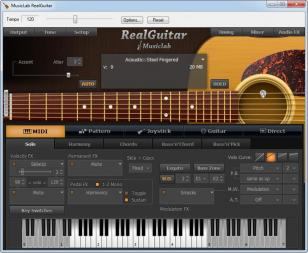 MusicLab RealGuitar main screen