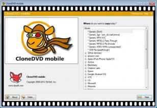 CloneDVD Mobile main screen