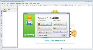 CoffeeCup Free HTML Editor main screen