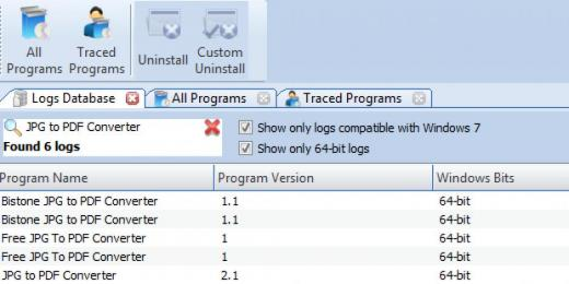 Find JPG to PDF Converter in Logs Database List