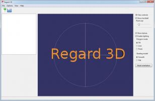 Regard3D main screen
