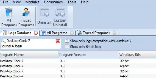Find Desktop Clock-7 in Logs Database List