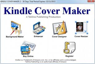 Kindle Cover Maker main screen