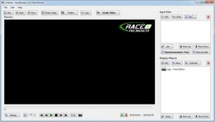 RaceRender main screen