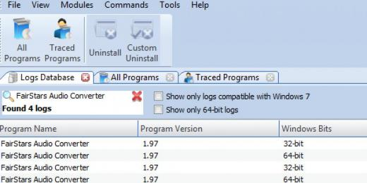 Find FairStars Audio Converter in Logs Database List