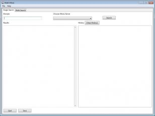 Multi Whois Client main screen