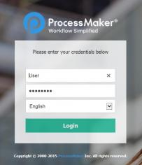 ProcessMaker main screen