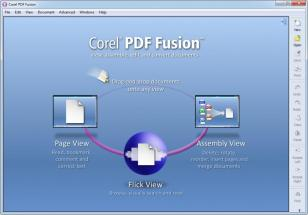 Corel PDF Fusion main screen