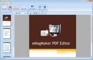 eMagMaker PDF Editor main screen