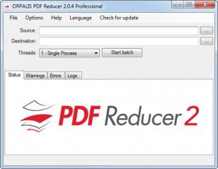 ORPALIS PDF Reducer Pro Edition main screen