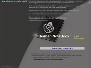 Notebook main screen