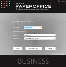 Realify PaperOffice 2014 main screen
