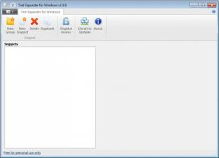 Text Expander for Windows main screen