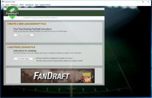 FanDraft Football main screen