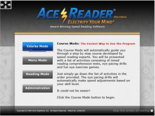 AceReader Elite main screen