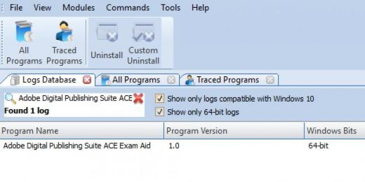 Find Adobe Digital Publishing Suite ACE Exam Aid in Logs Database List