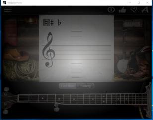 Free Banjo Notes main screen