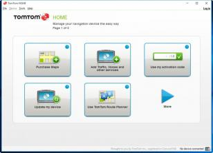 TomTom HOME main screen