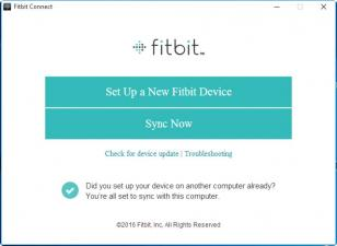 Fitbit Connect main screen