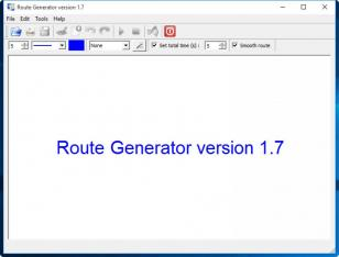Route Generator main screen