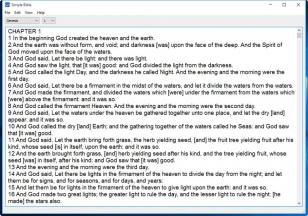 Simple Bible main screen