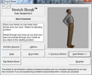 Stretch Break main screen
